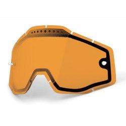 100% náhradné dvojité sklo Racecraft/Accuri/Strata, Anti-fog, Persimmon - oranžové