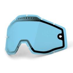 100% náhradné dvojité sklo Racecraft/Accuri/Strata, Anti-fog Modré