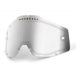 100% náhradné dvojité sklo zrkadlové Racecraft/Accuri/Strata, Anti-fog - strieborné