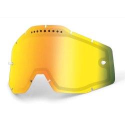 100% náhradné dvojité sklo zrkadlové Racecraft/Accuri/Strata, Anti-fog zlaté