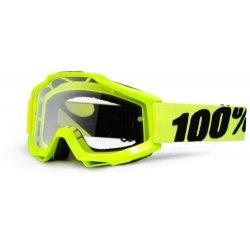 100% okuliare Accuri MX MTB Fluo Yellow číre sklá