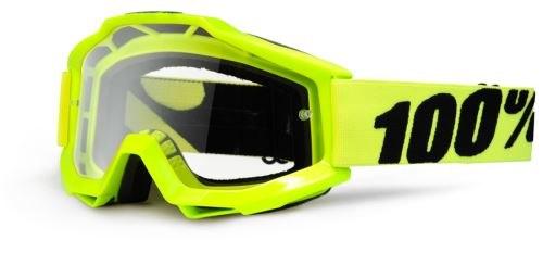 ac663edc1 100% okuliare Accuri MX MTB Fluo Yellow číre sklá - Houseofbike