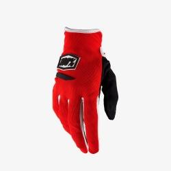 100% dámske rukavice Ridecamp Red