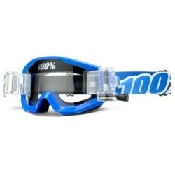 100% okuliare Strata MX MTB Roll off Blue Lagoon číre sklá