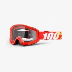 100% detské okuliare Strata MX MTB Orange - číre sklá