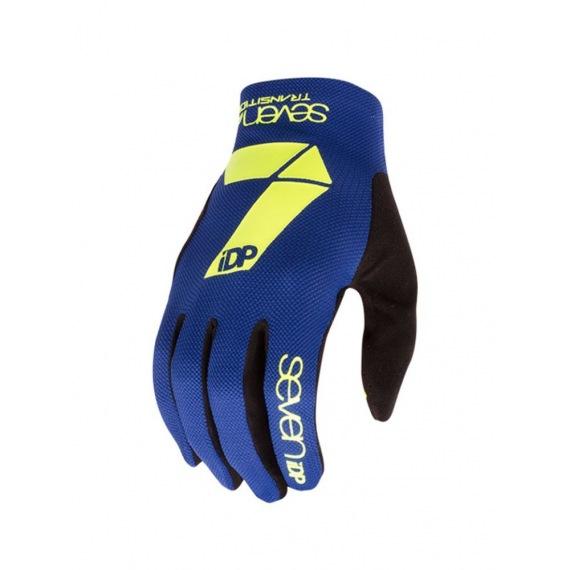 7idp rukavice Transition Lime/Navy Blue 2018