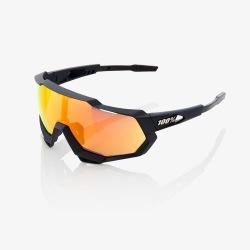 100% cyklistické okuliare Speedtrap Soft Tact Black červené zrkadlové sklá