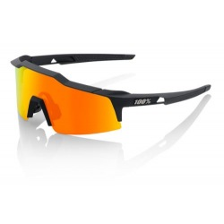 100% okuliare Speedcraft SL Soft Tact Black Hiper červené zrkadlové sklá