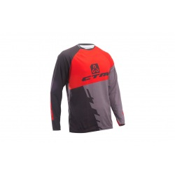 CTM dres Enduro Line L/S Black/Red 2018