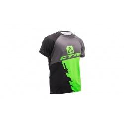 CTM dres Enduro Line S/S Black/Green