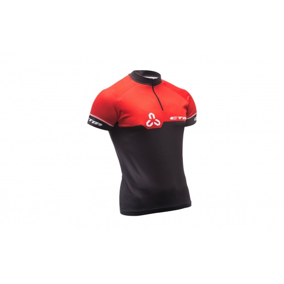 CTM dres Enduro Line S/S Black/Red 2018