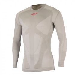ALPINESTARS termoprádlo Tech Top L/S Silver Red 2018