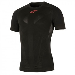 ALPINESTARS Termoprádlo Tech Top S/S Black Red 2018
