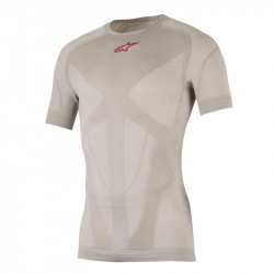 ALPINESTARS Termoprádlo Tech Top S/S Silver Red 2018