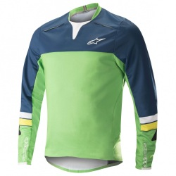 ALPINESTARS Dres Drop Pro L/S Poseidon Blue Summer Green 2018