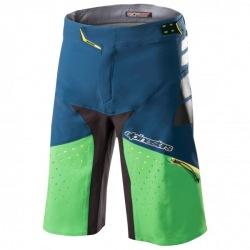 ALPINESTARS Kraťasy bez cyklovložky Drop Pro Poseidon Blue Summer Green