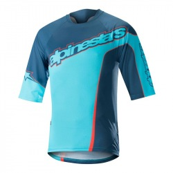 ALPINESTARS Dres Crest 3/4 Sleeve Poseidon Blue Atoll Blue