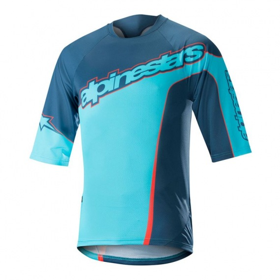 ALPINESTARS Dres Crest 3/4 Sleeve Poseidon Blue Energy Orange 2018