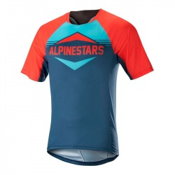 ALPINESTARS Dres Mesa S/S Energy Orange Poseidon Blue
