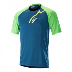 ALPINESTARS Dres Trailstar SS Poseidon Blue Summer Green