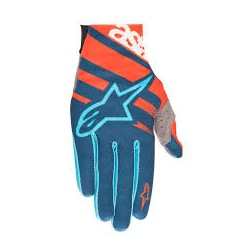 ALPINESTARS rukavice Racer Energy Orange Poseidon Blue
