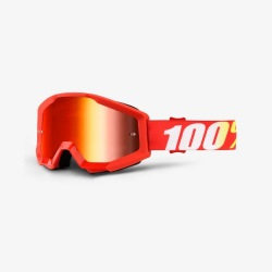 100% okuliare Strata MX MTB Furnace červené zrkadlové sklá
