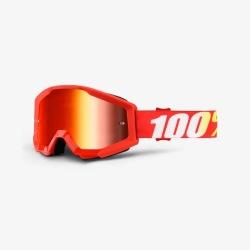 100% okuliare Strata MX MTB Furnace - červené zrkadlové sklá