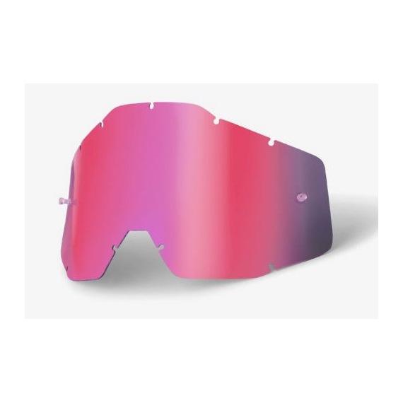 100% náhradné sklo Racecraft/Accuri/Strata, Anti-fog zrkadlové ružové
