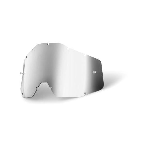 100% náhradné sklo Racecraft/Accuri/Strata, Anti-fog zrkadlové strieborné