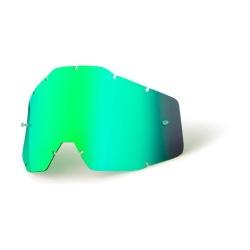 100% náhradné sklo Racecraft/Accuri/Strata, Anti-fog zrkadlové zelené