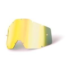 100% náhradné sklo Racecraft/Accuri/Strata, Anti-fog zrkadlové zlaté