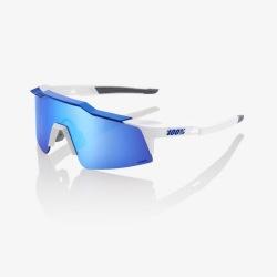 100% okuliare Speedcraft SL MatteWhite/Metallic Blue HiPer modré zrkadlové sklá