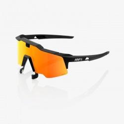 100% okuliare Speedcraft Air Soft Tact Black /HiPer červené zrkadlové sklá