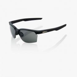 100% cyklistické okuliare Sportcoupe Matte Black HiPer strieborné zrkadlové sklá