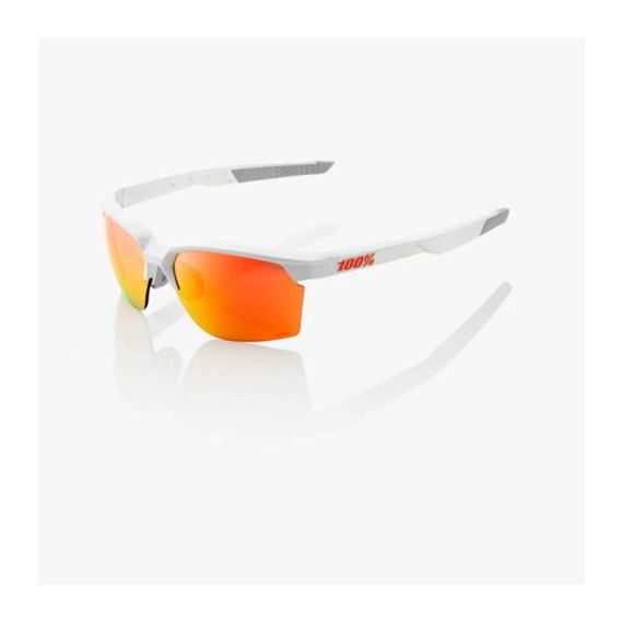 da0d89feb 100% cyklistické okuliare Sportcoupe Matte White HiPer červené zrkadlové  sklá