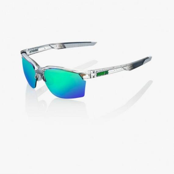 a2866a467 100% cyklistické okuliare Sportcoupe Polished Translucent Crystal Grey  zelené zrkadlové sklá