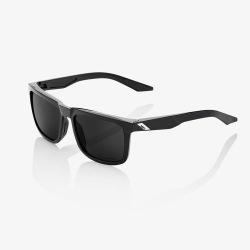 100% slnečné okuliare Blake Polished Black šedé PeakPolar sklá