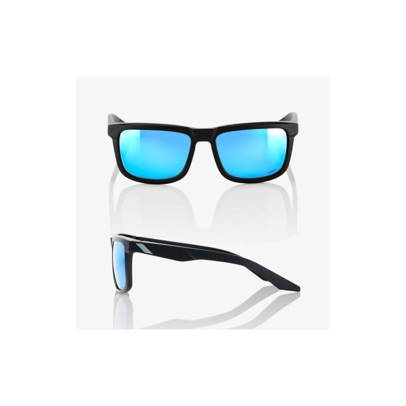 ... 100% slnečné okuliare Blake Matte Black HiPer modré zrkadlové sklá ... dcbd5ce1bb9