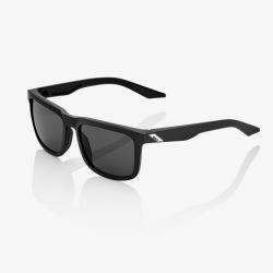 100% slnečné okuliare Blake Soft Tact Black dymové sklá
