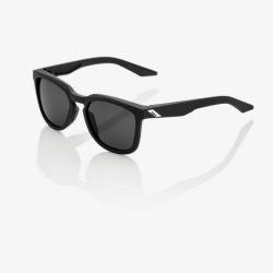 100% slnečné okuliare Hudson Soft Tact Black dymové sklá