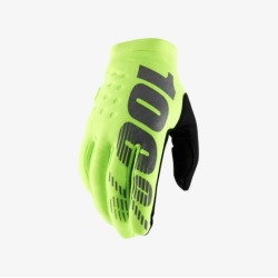 100% rukavice Brisker Fluo Yellow 2019