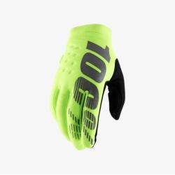 100% rukavice Brisker Fluo Yellow