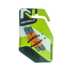 NEXELO náhradné brzdové gumičky 2 zmesi oranžovo/šedé
