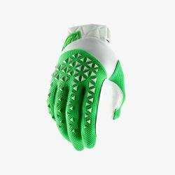 100% rukavice Airmatic Silver/Fluo Lime