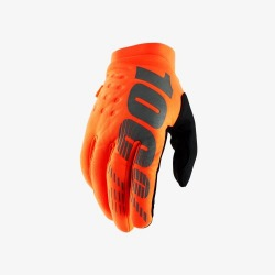 100% rukavice Brisker Fluo Orange/Black 2019