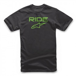 ALPINESTARS Tričko Ride 2.0 Black Green 2018