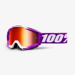 100% detské okuliare Accuri MX MTB Framboise červené zrkadlové sklá