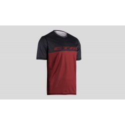 CTM dres Tech Tee Bordeaux/Dark Grey