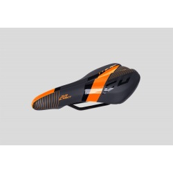 CTM detské sedlo Flash čierna/oranžová