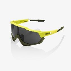 100% okuliare Speedtrap Soft Tact Banana čierne zrkadlové sklá